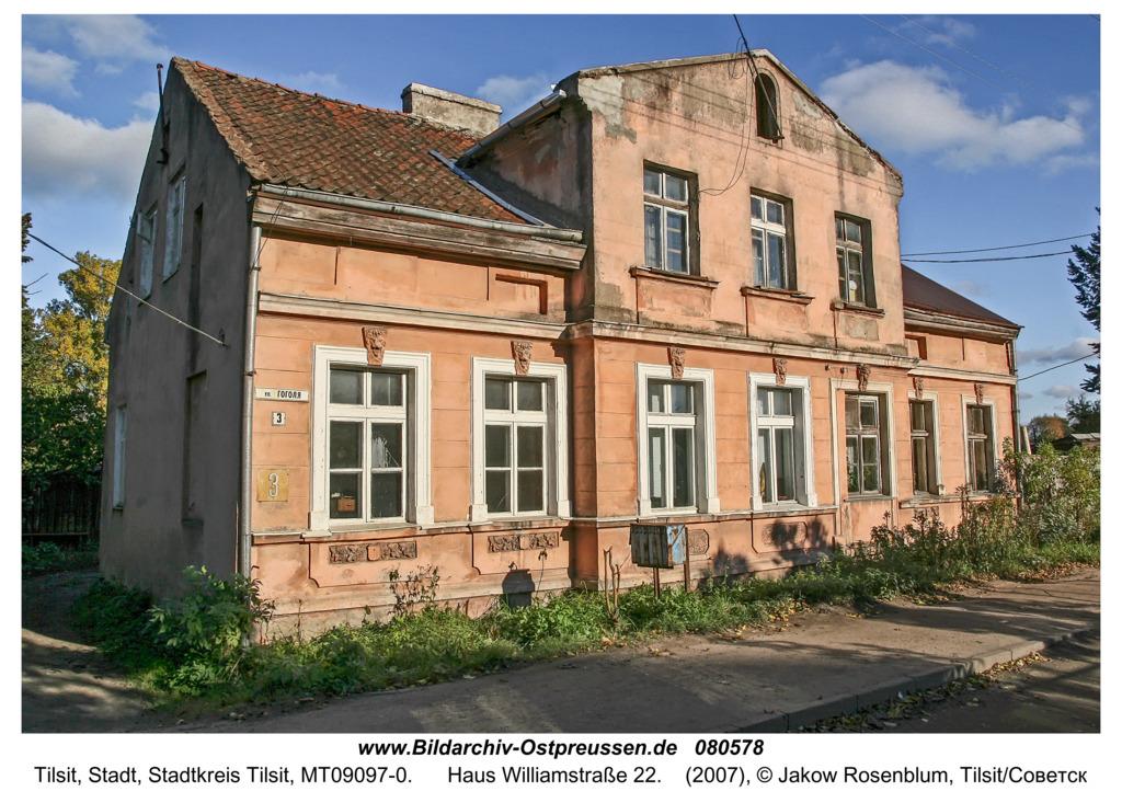 Tilsit (Советск), Haus Williamstraße 22