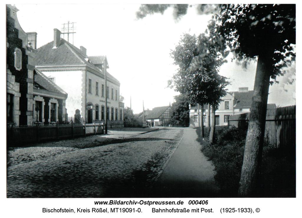 Bischofstein, Bahnhofstraße mit Post