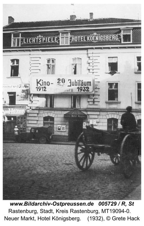 Rastenburg, Neuer Markt, Hotel Königsberg