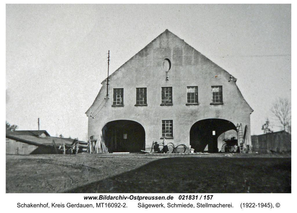 Schakenhof, Sägewerk, Schmiede, Stellmacherei