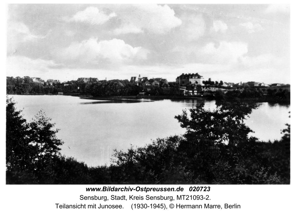 Sensburg, Teilansicht mit Junosee