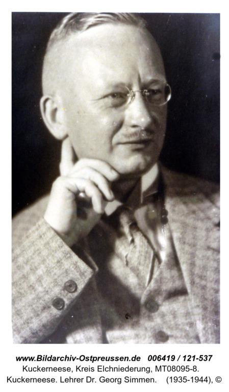 Kuckerneese. Lehrer Dr. Georg Simmen