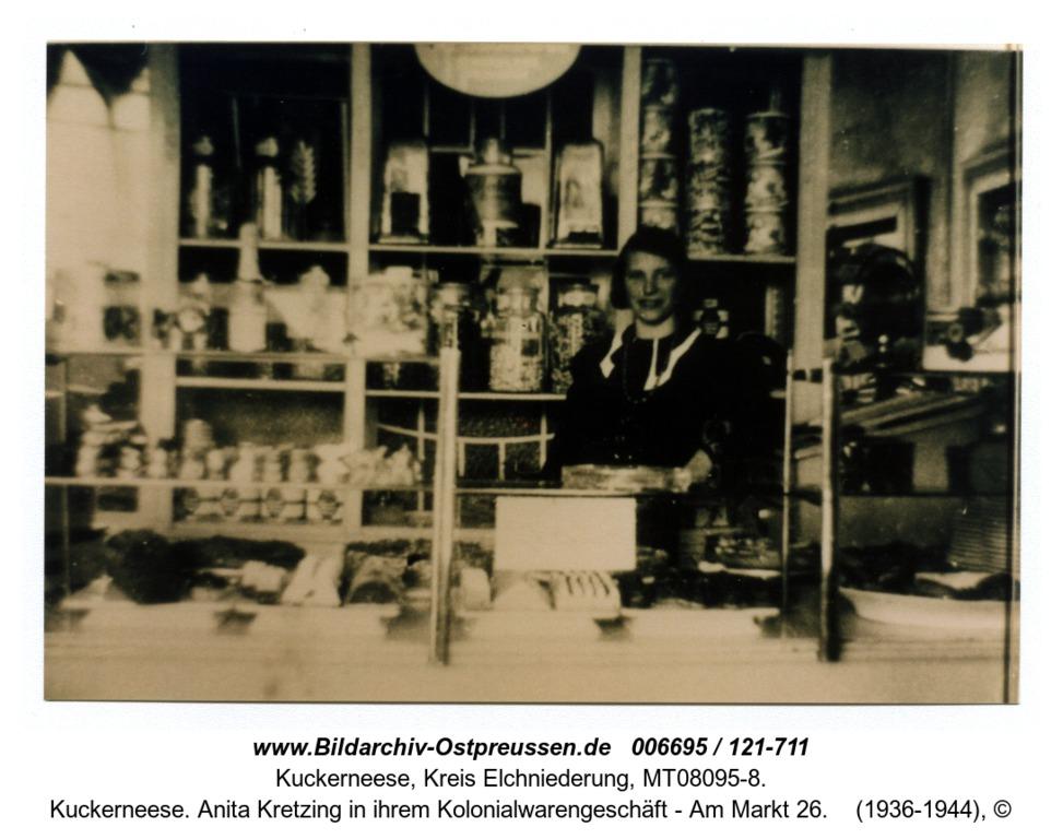 Kuckerneese. Anita Kretzing in ihrem Kolonialwarengeschäft - Am Markt 26