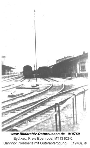 Eydtkau, Bahnhof, Nordseite mit Güterabfertigung