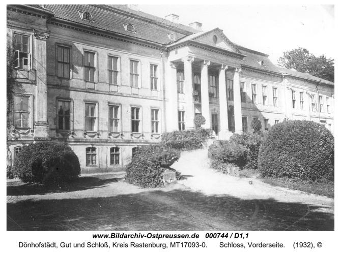 Dönhofstädt, Schloss, Vorderseite