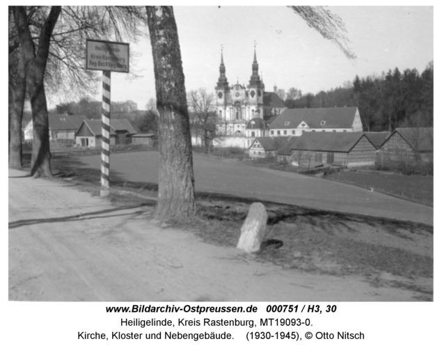 Heiligelinde, Kirche, Kloster und Nebengebäude