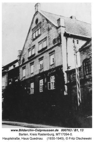 Barten, Hauptstraße, Haus Quednau