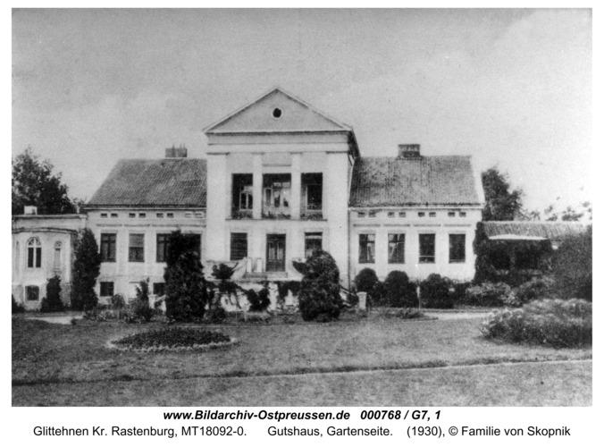 Glittehnen, Gutshaus, Gartenseite
