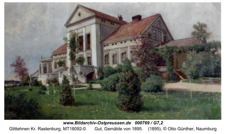 Glittehnen, Gut, Gemälde von 1895