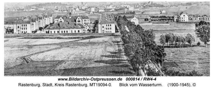 Rastenburg, Blick vom Wasserturm