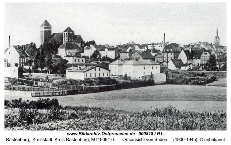 Rastenburg, Ortsansicht von Südosten