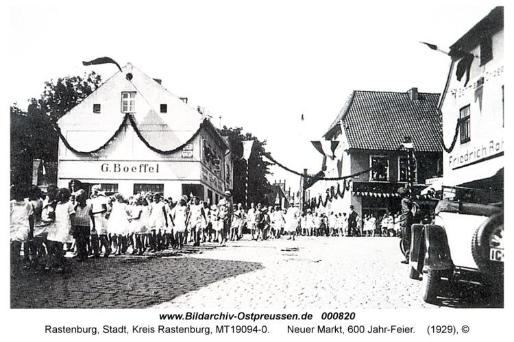 Rastenburg, Neuer Markt, 600 Jahr-Feier