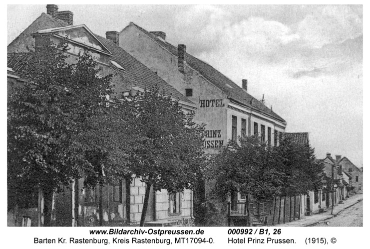 """Barten, Hauptstraße, Hotel """"Prinz Preussen"""""""