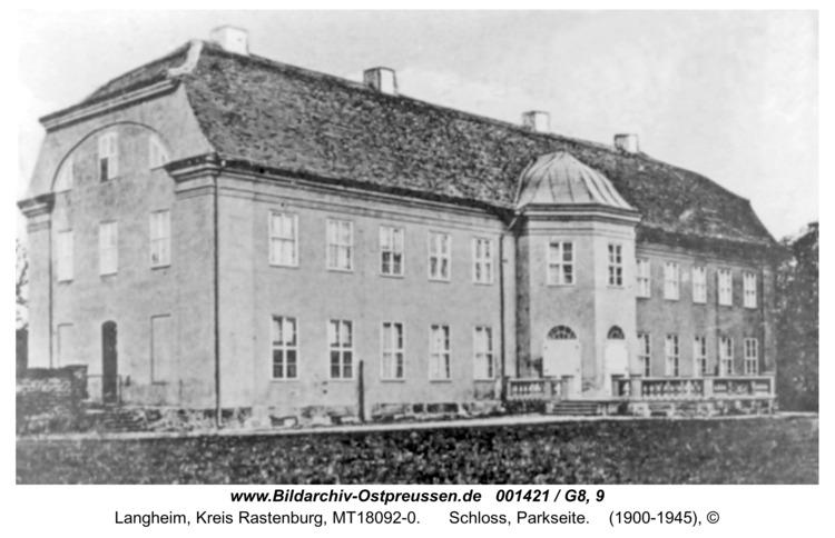 Langheim, Schloss, Parkseite