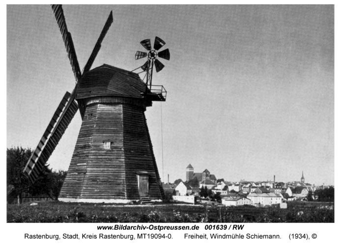 Rastenburg, Freiheit, Windmühle Schiemann