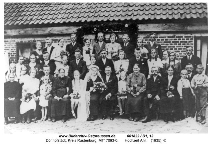Dönhofstädt, Hochzeit Ahl