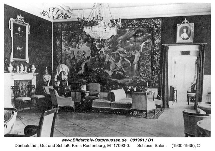 Dönhofstädt, Schloss, Salon