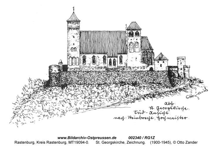 Rastenburg, St. Georg, Zeichnung