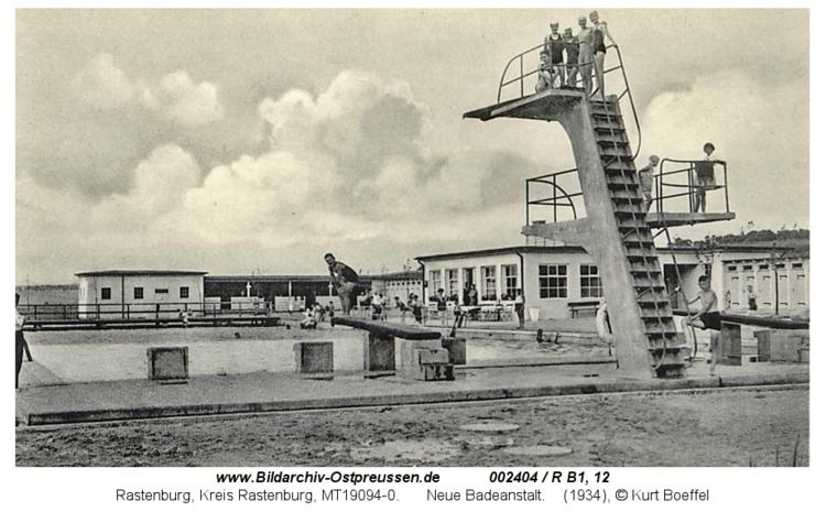 Rastenburg, Neue Badeanstalt