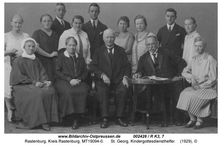Rastenburg, St. Georg, Kindergottesdiensthelfer