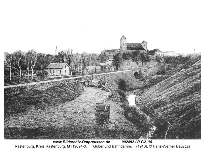 Rastenburg, Guber und Bahndamm