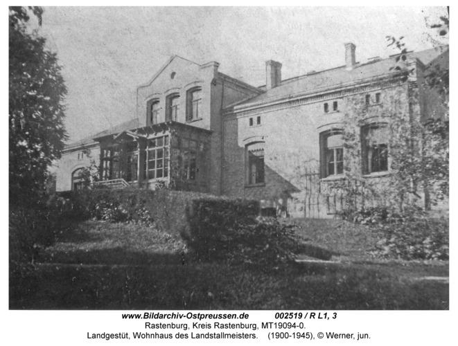 Rastenburg, Landgestüt, Wohnhaus des Landstallmeisters
