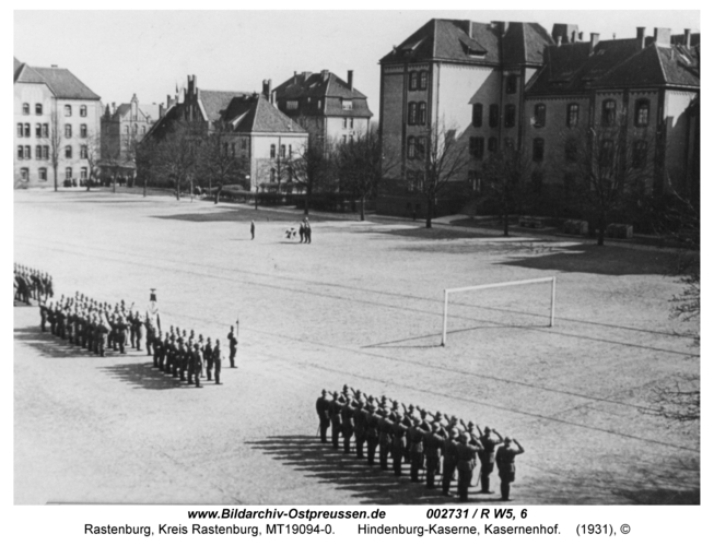 Rastenburg, Hindenburg-Kaserne, Kasernenhof