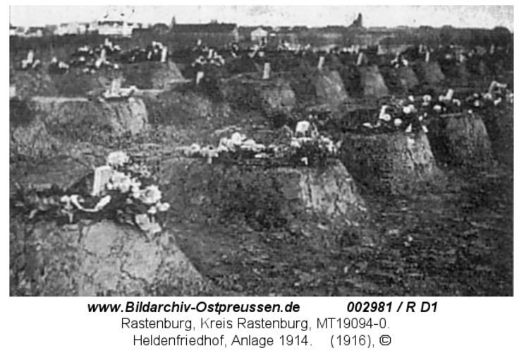 Rastenburg, Heldenfriedhof, Anlage 1916