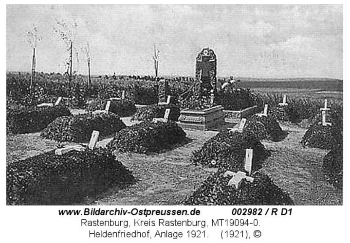 Rastenburg, Heldenfriedhof, Anlage 1921