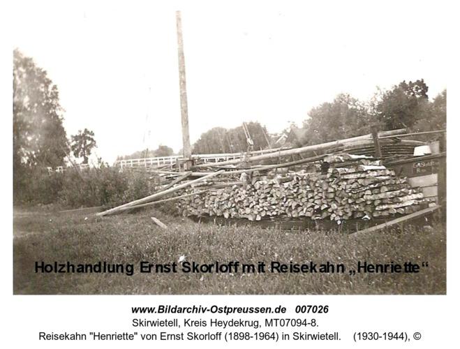 """Reisekahn """"Henriette"""" von Ernst Skorloff (1898-1964) in Skirwietell"""