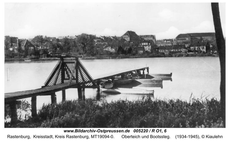 Rastenburg, Oberteich und Bootssteg