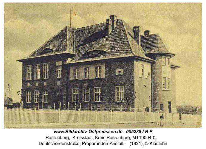 Rastenburg, Deutschordenstraße, Präparanden-Anstalt