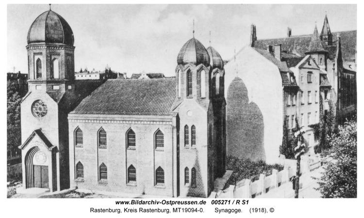 Rastenburg, Wilhelmstraße, Synagoge