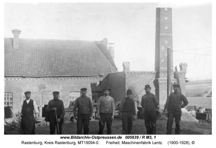 Rastenburg, Freiheit, Maschinenfabrik Lentz