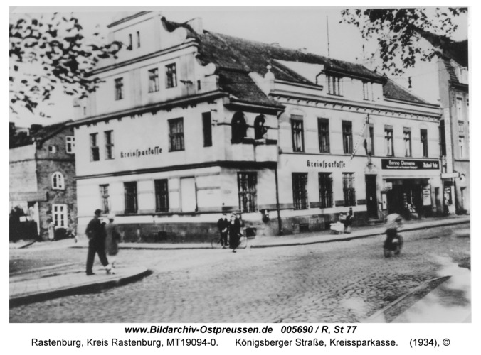 Rastenburg, Königsberger Straße, Kreissparkasse