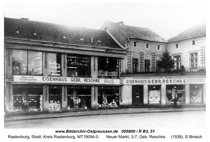 Rastenburg, Neuer Markt, 3-7, Geb. Reschke