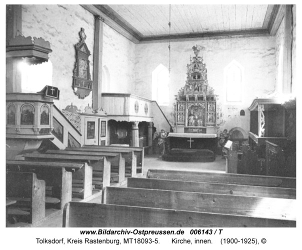 Tolksdorf, Kirche, innen