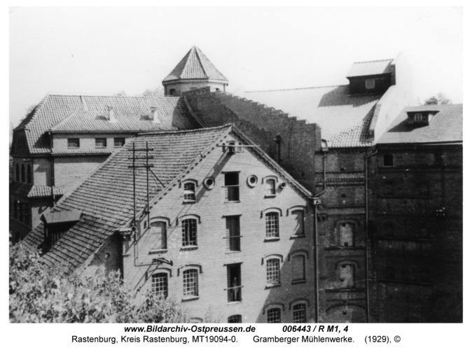 Rastenburg, Freiheit, Mühlenwerke