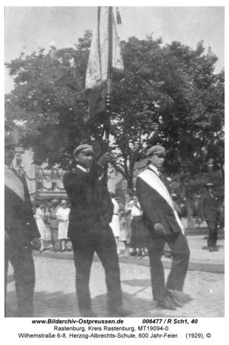 Rastenburg, Wilhelmstraße 6-8, Herzog-Albrechts-Schule, 600 Jahr-Feier