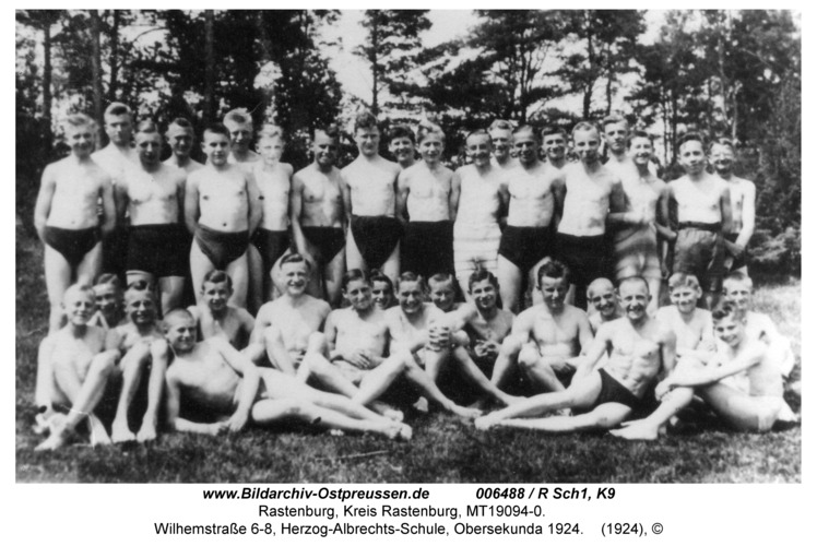 Rastenburg, Wilhelmstraße 6-8, Herzog-Albrechts-Schule, Obersekunda 1924