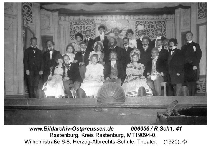 Rastenburg, Wilhelmstraße 6-8, Herzog-Albrechts-Schule, Theater