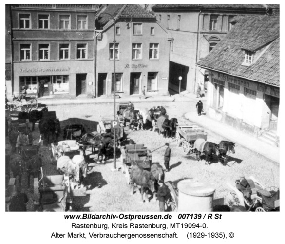 Rastenburg, Alter Markt, Verbrauchergenossenschaft