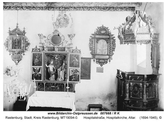 Rastenburg, Hospitalstraße, Hospitalkirche, Altar
