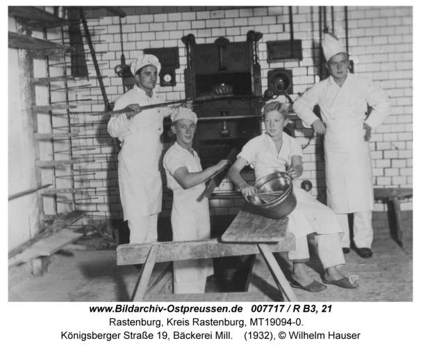 Rastenburg, Königsberger Straße 19, Bäckerei Mill