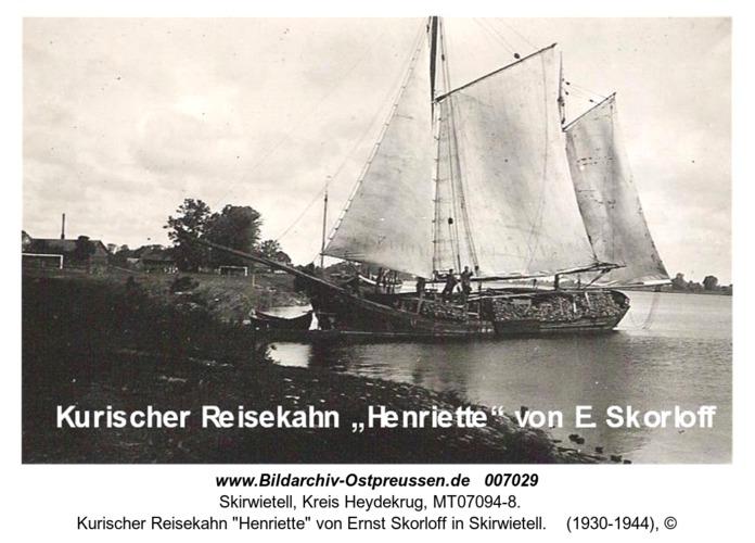 """Kurischer Reisekahn """"Henriette"""" von Ernst Skorloff in Skirwietell"""