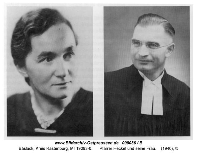 Bäslack, Pfarrer Heckel und seine Frau