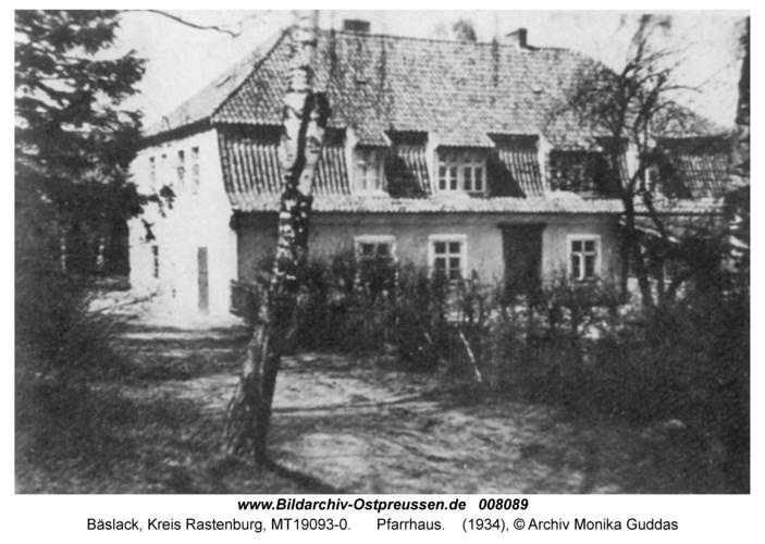 Bäslack, Pfarrhaus