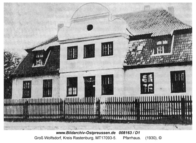 Groß Wolfsdorf, Pfarrhaus