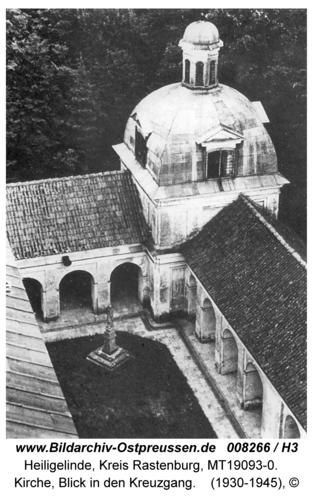 Heiligelinde, Kirche, Blick in den Kreuzgang