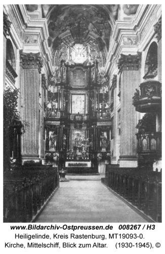 Heiligelinde, Kirche, Mittelschiff, Blick zum Altar